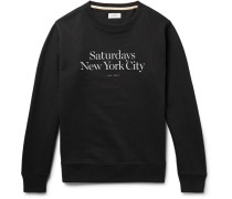 Bowery Miller Printed Loopback Cotton-jersey Sweatshirt