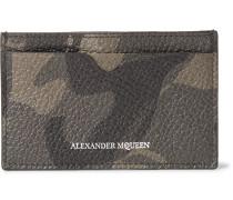 Camouflage-print Full-grain Leather Cardholder