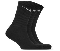 Three-pack Cushioned Cotton-blend Socks