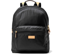 Leather-trimmed Shell Backpack