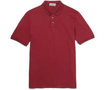 Distressed Stretch-cotton Piqué Polo Shirt