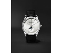 Master Ultra Thin Moon Automatic 39mm Stainless Steel and Alligator Watch, Ref. No. JLQ1368420