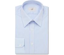 Blue Slim-fit Striped Cotton-poplin Shirt