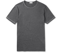 Slim-fit Contrast-tipped Cotton-jersey T-shirt