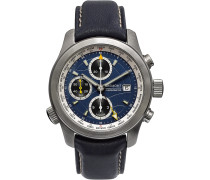 Alt1-wt/bl World Timer Automatic Chronograph 43mm Stainless Steel And Leather Watch