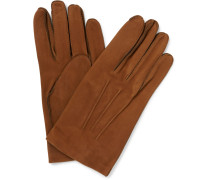 Scritto Embossed Nubuck Gloves
