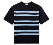 Striped Ribbed-knit T-shirt