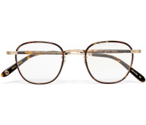 Grant Square-frame Acetate And Gold-tone Optical Glasses