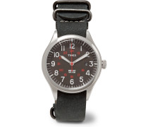 Waterbury United Stainless Steel And Nubuck Watch
