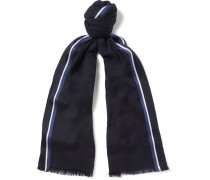 Striped Silk, Cashmere And Cotton-blend Scarf