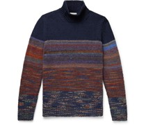 Space-Dyed Knitted Rollneck Sweater