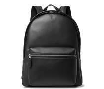 Hampstead Canvas-panelled Leather Backpack