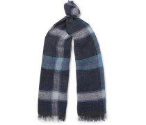Forte Checked Linen Scarf