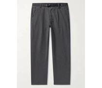 Dean Belted Pleated Cotton-Blend Twill Trousers