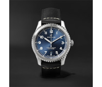 Navitimer 8 Automatic Chronometer 41mm Steel and Leather Watch, Ref. No. A17314101C1X2