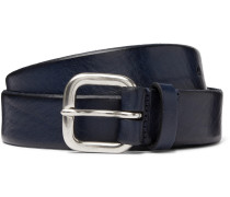 3.5cm Textured-Leather Belt