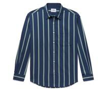 Deon Striped Stretch Cotton-Blend Shirt