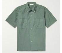 Button-Down Collar Cotton-Poplin Shirt