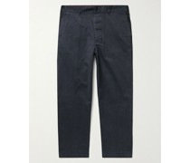 Tapered Cotton-Blend Twill Chinos