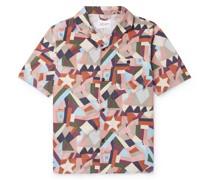 Miles Camp-Collar Printed Cotton Shirt