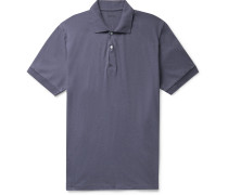 Cotton and Linen-Blend Jersey Polo Shirt
