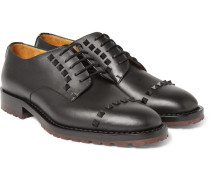 Studded Leather Derby Shoes