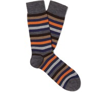 Striped Merino Wool-Blend Socks
