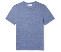 Slub Cotton and Silk-Blend Jersey T-Shirt