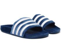 Adilette Striped Velvet Slides