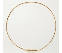 Liquid Plug Lock 18-Karat Gold Necklace