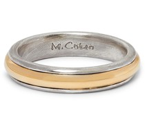 18-Karat Gold and Sterling Silver Ring