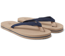 Cotton-canvas Flip Flops