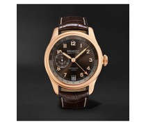 H-4 Hercules Limited Edition Automatic 43mm 18-Karat Rose Gold and Alligator Watch