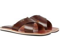 Elio Polished-leather Slides