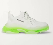 Triple S Mesh, Faux Nubuck and Faux Leather Sneakers