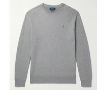 Honeycomb-Knit Pima Cotton Sweater