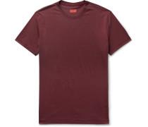 Mélange Silk and Cotton-Blend Jersey T-Shirt