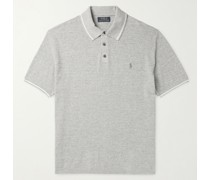 Slim-Fit Logo-Embroidered Cotton and Linen-Blend Polo Shirt