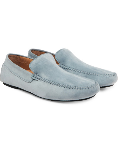 Nubuck Penny Driving Shoes - Blue