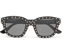 Lou Square-frame Studded Acetate Sunglasses
