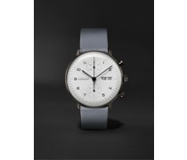 Max Bill Chronoscope Automatic 40mm Stainless Steel and Leather Watch, Ref. No. 027/4008.05