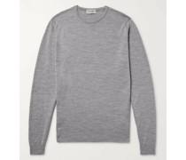 Lundy Slim-Fit Mélange Merino Wool Sweater