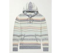 Jacquard-Knit Organic Cotton Hooded Sweater
