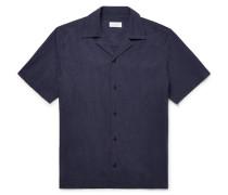 Camp-collar Cotton-poplin Shirt