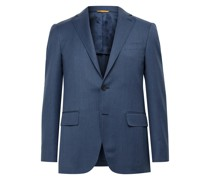 Kei Slim-Fit Unstructured Wool Suit Jacket