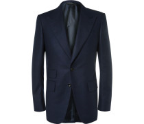 Blue Wool-flannel Suit Jacket