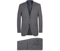 Grey Milano Slim-fit Puppytooth Trofeo Wool-blend Suit