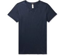 Superior Mercerised Stretch-Cotton T-Shirt