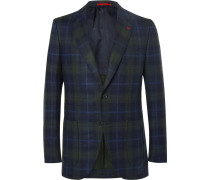 Slim-fit Checked Wool And Cashmere-blend Blazer