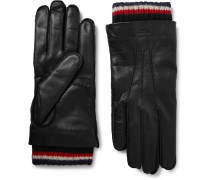 Cashmere-trimmed Leather Gloves